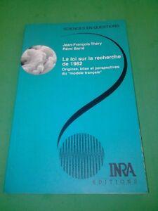 La-loi-sur-la-recherche-de-1982-J-F-Thery-INRA-Editions