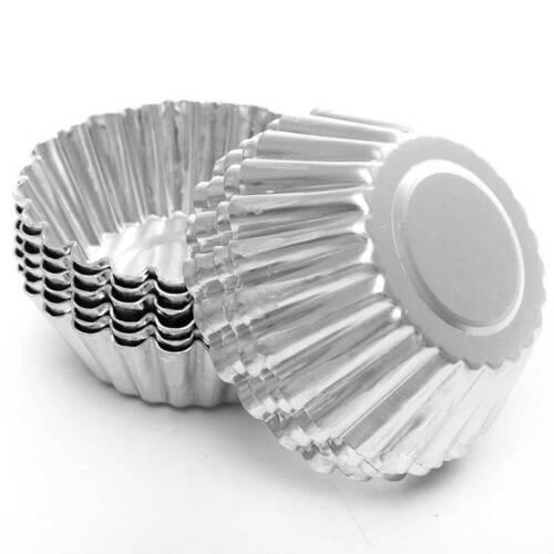 10pcs Aluminium Egg Tart Mold wiederverwendbare Backform für Cupcake Backformen