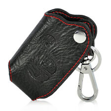 Leather Key Chain Holder Case Cover Fob fit TOYOTA Camry Highlander Land Cruiser