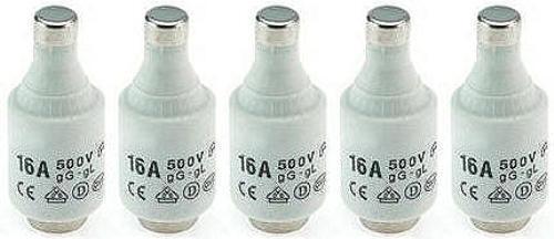 5x Sicherung Porzellan Schmelzsicherung Diazed D2 16A bis 500V träg träge
