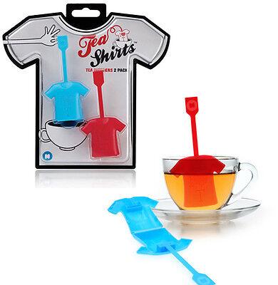 Tea Shirt - Tea Infuser / Strainer Loose Leaf Tea Gadget -Gift Set Of 2 Infusers