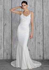 NICOLE MILLER BRIDAL HAMPTON WEDDING DRESS GH10006 $1400 SZ 16