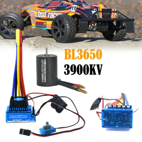 Brushless Motor 120A ESC Combo Electric Speed Controller for 1//10 RC Car Truck