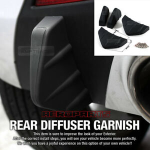 Bumper Diffuser Molding Point Garnish Lip Under Splitter Black for RV SUV Car