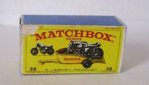 Repro box Matchbox 1:75 nº 38 honda tráiler mayores