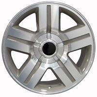 Set (4) 22x9 Chevy Silverado Texas Edition Replica Silver Wheels Rims 22