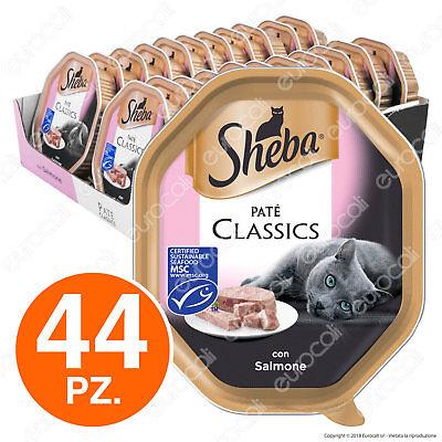 Sheba Paté Classic Cibo per Gatti al Gusto Salmone - 44 Vaschette da 85g