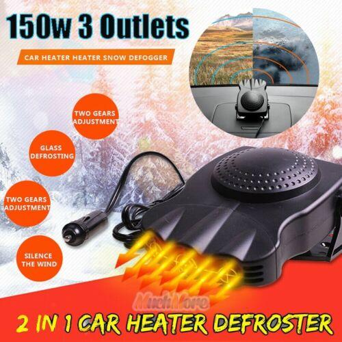 Upgrade 3Port 12V DC Plug In Vehicle Car Heater Cooling Fan Defrosts Defogger US