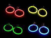 4 Paar Knicklicht - Creolen, Einfarbig Oder 4-farben-mix