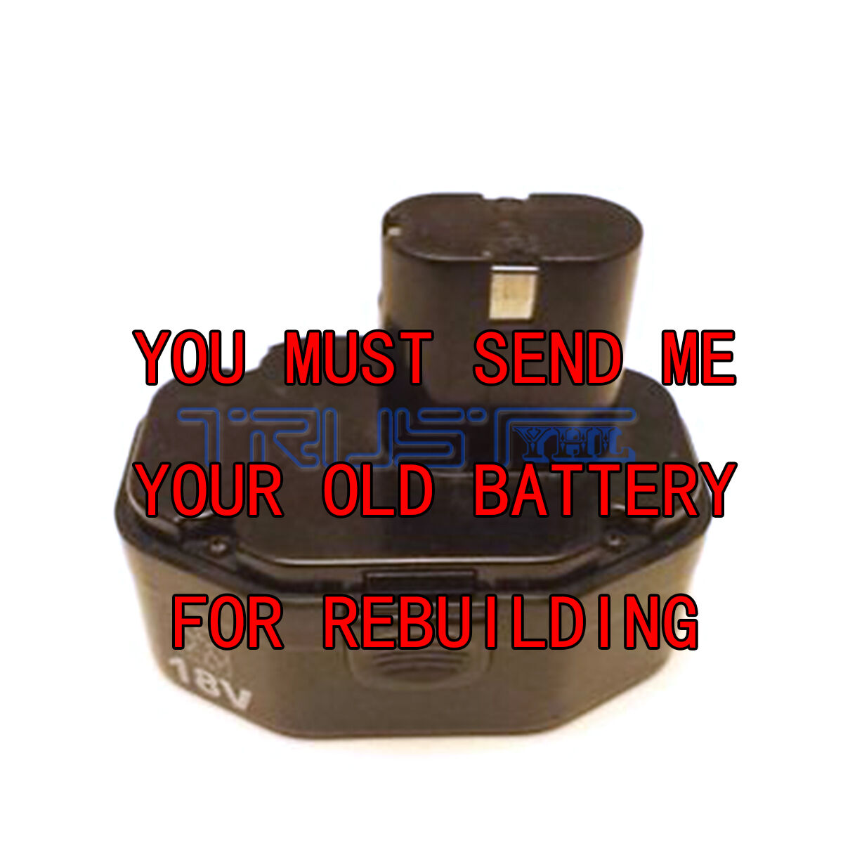 Re-build service for MAC TOOL 18 VOLT BATTERY BP18012 3.0 NI-MH
