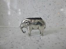 superb h/m silver elephant pin cushion c1907 RARE MAKERS MARK