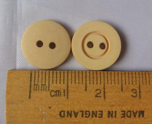 1 Paquete De 10 Botones De Plástico Redondo Beige 14mm 2 orificios magnífico sombra británica BC14