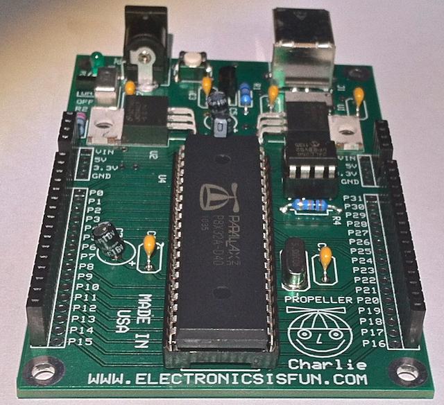 Propeller Charlie - Propeller Microcontroller board (Discounted)