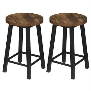 2 X Esszimmerstühle Küchenstühle aus Metall und Holz,Holz Vintage BH297hov-2