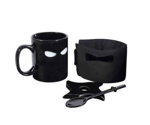 Super Ninja Mug Ninja Star Coaster Boxed excellent cadeau