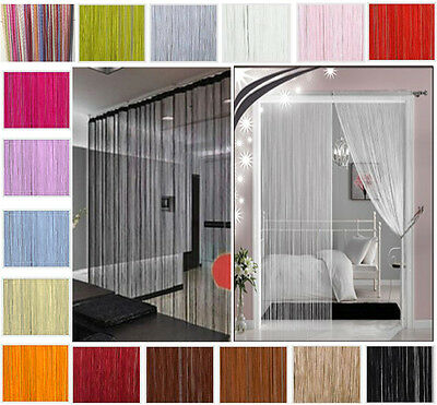 String Curtains Patio Net Fringe for Door Fly Screen Windows Divider Cut To Size