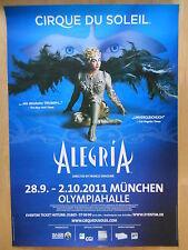 CIRQUE DU SOLEIL - ALEGRIA 2011 MÜ.   -  orig.Konzert-Poster-Plakat  A1 used Top