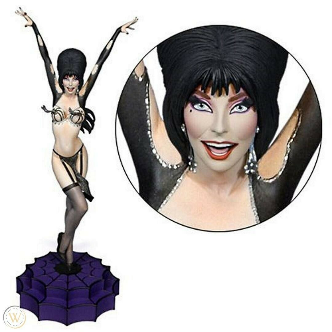 Image 1 - Tweeterhead Elvira Vegas or Bust Exclusive Maquette Statue -NIB- Limited Edition