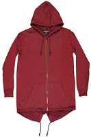 Rise As 1ne Solid Fishtail Cape Elongated Jacket Long Rs1ne Hoodie Marsala Mens
