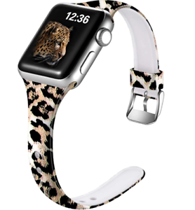 for Apple Watch Band Leopard 38/40mm Silicone iWatch 6/5/4/3/2/1 Sport Wristband