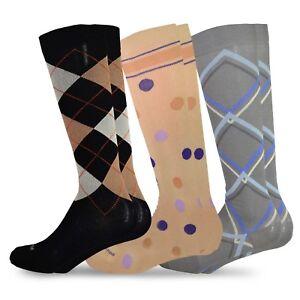 f2f677178 Image is loading TeeHee-Microfiber-Compression-Knee-High-Socks-with-Rib-