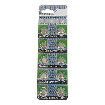 10X Batterien AG9 L936 LR45 394A SR45 Knopfzelle Uhr Kamera G3D