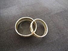 Matching WEDDING BAND SET 925 Diamond Cut Sterling His Size 11.5 & Hers Size 8.5