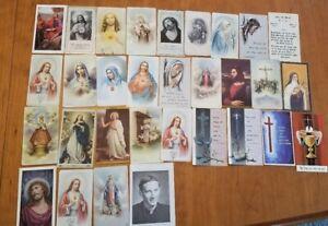 Vintage-1940s-Christian-Prayer-Holy-Card-Lot-44
