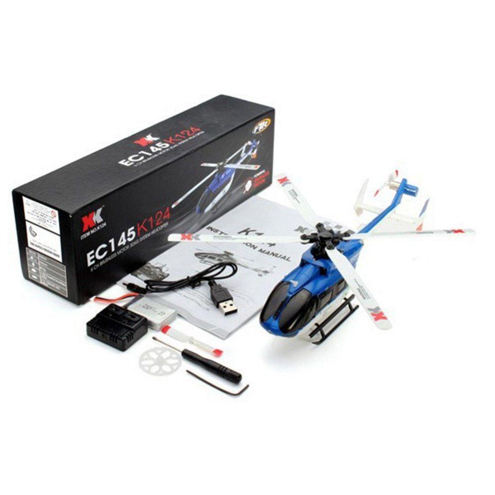 moda classica XK K124 RC Drone BNF Sans Émetteur Émetteur Émetteur 6CH Brushless Moteur 3D Hélicoptère Système  disponibile