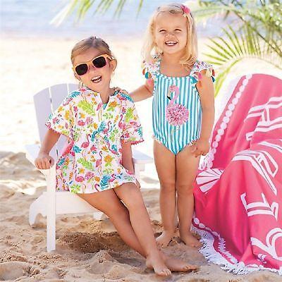 Mud Pie Girl Tassel Flamingo 2pcs Swimsuit