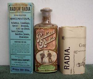 Western Cure Bottle & Box, Amazing Color Label, Radium Radia