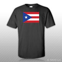Puerto Rican Flag T-shirt Tee Shirt Free Sticker Pr Rico