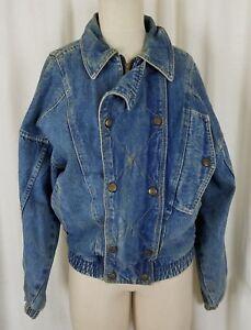 new arrival 3dbcf 9082f Dettagli su Vintage Guess Giorgio Marciano Blu Denim Giacca di Jeans da  Donna Uomo S Anni 80