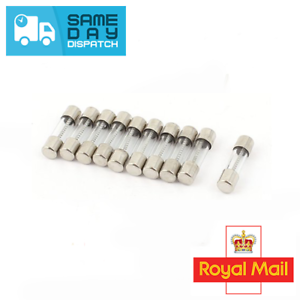 20x 2amp Mini 5mmx20mm Glass Radio 2a Fuse Fuses Car Boat Wire Cable Electrical