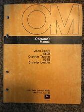 John Deere 550b Crawler Tractor 555b Loader Owner Operator Manual Omt81348