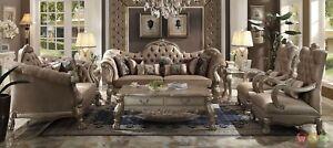 dresden victorian style bone velvet upholstered 3 piece living room rh ebay com Victorian Leather Sofa victorian style sofa set for sale