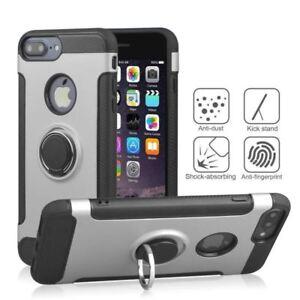coque-a-renfort-en-carbone-Silicone-argent-anneau-metal-Apple-iPhone-X