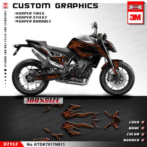 Kungfu Graphics Personalised Stickers for Duke 790 Duke790 2017 2018 2019 Orange