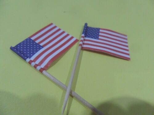2 American Flags Dollhouse Miniature 1:12  Show your Patriotism Free shipping