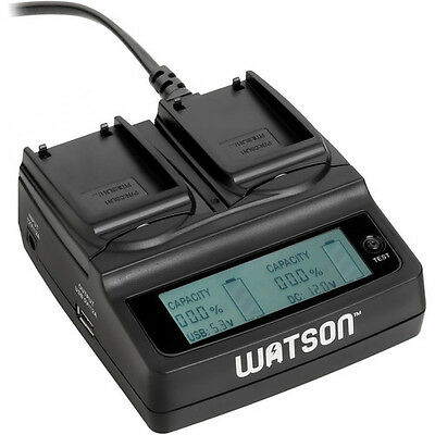 Watson Duo LCD Charger with 2 BLN-1 Battery Plates