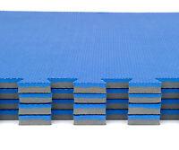 Blue Gym Mats Exercise Floor Eva Jigsaw Mat 256sqft