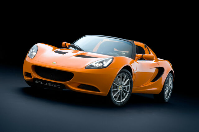 LOTUS ELISE ORANGE SPORTS CAR PRINT POSTER