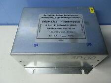 Siemens 6SN1111-0AA01-1BA0 Filtermodul TA Nr 581793 ac