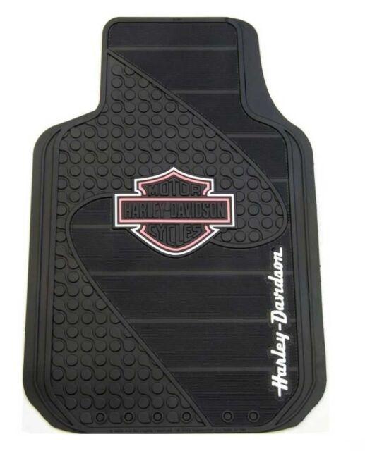 harley davidson motorcycle floor mats pink b/&s shield rubber car truck auto hd