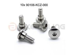 10x Honda stainless steel fairing bolts with shoulder Part number: 90106-KCZ-000