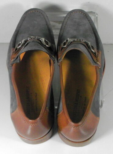 242009 MSi60 Men/'s Shoes Size 10 M Gray Suede Made in Italy Johnston Murphy