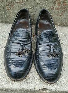 6d116e00e1b Image is loading Vintage-Footjoy-Lizard-Skin-Tassled-Oxford-Loafer-Slip-
