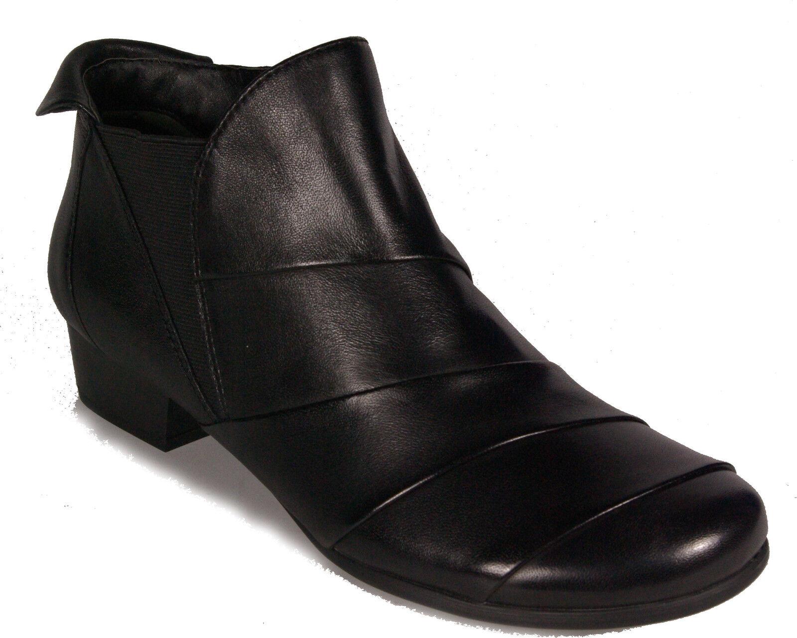 CAPRICE Schuhe City Stiefeletten Schwarz echt echt echt Leder Reißverschluss NEU e50b44