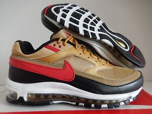 Details about NIKE AIR MAX 97 BW METALLIC GOLD UNIVERSITY RED SZ 8 [AO2406 700]