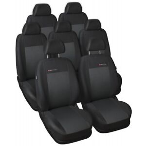 6 Mazda 5 Sitzbezüge schwarz Sitzbezug  Velour Schonbezüge